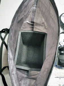 Dyneema - Borsa a tracolla per macchina fotografica 100% waterproof per bikepacking