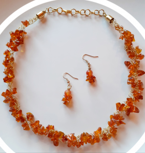 Necklace and earrings set | Handcrafted set online