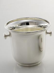 Secchiello ghiaccio con manici placcato argento stile Inglese cm.15h diam.16