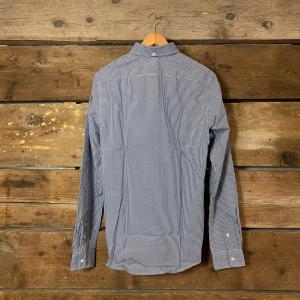 Camicia Scotch & Soda in Cotone a Quadretti Bianca e Blu