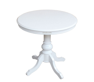 Table ronde 80 cm laquée