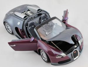 Bugatti Veyron Grand Sport 2009 Grey Metallic Purple Metallic 1/18 Minichamps