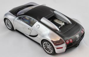 Bugatti Veyron 16.4 Pur Sang Black Aluminium Cating 1/18 Autoart