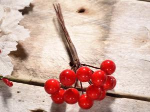 Rametto bacche rosse con gambo modellabile