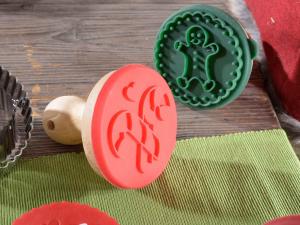 Set stampo dolci silicone tagliabiscotti acciaio con sacchetto