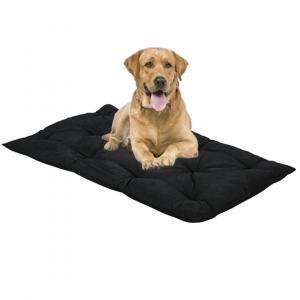 Letto per Cani alto 8 cm Lavabile Materasso Cuscino in Waterfoam Cuccia Tappeto Imbottitura 100% Fiocco Colore  Nero | Fufy