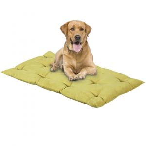 Letto per Cani alto 8 cm Lavabile Materasso Cuscino in Waterfoam Cuccia Tappeto Imbottitura 100% Fiocco Colore Verde | Fufy