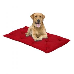 Letto per Cani alto 8 cm Lavabile Materasso Cuscino in Waterfoam Cuccia Tappeto Imbottitura 100% Fiocco Colore Rosso | Fufy