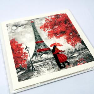 Biglietto augurale in filigrana 'Notre Amour' Origamo