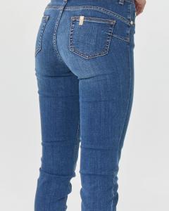 Jeasn skinny in cotone stretch blu mirato a vita media e lunghezza regular