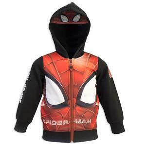 Felpa Spiderman Mis. 3 4 6 8 anni con cappuccio e mascherina incorporata Inverno 2021