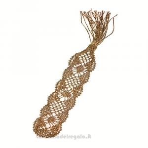 Segnalibro color Oro realizzato con il Tombolo 3.5x15 cm - Handmade in Italy