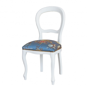 Chaise blanc laquée style Louis Philippe