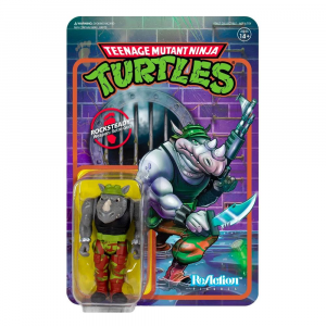 Teenage Mutant Ninja Turtles ReAction Figure: ROCKSTEADY by Super7