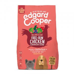 CROCCHETTE - Edgard & Cooper Crocchette per cani Grain Free Senior Pollo e Salmone con Broccoli