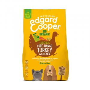 CROCCHETTE - Edgard & Cooper Crocchette Adult Gluten Free Tacchino e Pollo Biologici con Carota e Pera
