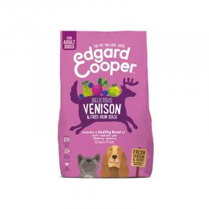 CROCCHETTE - Edgard & Cooper Crocchette Grain Free per cani Adult Anatra e Cervo con Mela e Barbabietola