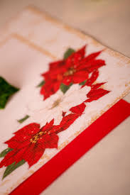 Tovaglioli XMAS FLOWERS decorati cm. 33x33