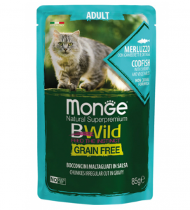 Monge Cat - Bwild Grain Free - Adult - 85g x 28 buste