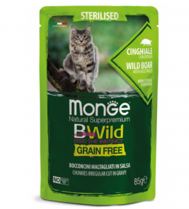 Monge Cat - Bwild Grain Free - Adult - Sterilised - 85g x 28 buste