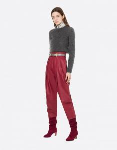 Pantalone in nappa Alberta Ferretti