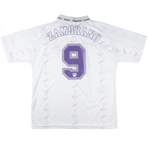 1994-96 Real Madrid Maglia Home Zamorano #9 L (Top)