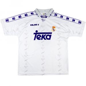 1994-96 Real Madrid Maglia Home Zamorano #9 L (Top)