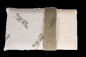 Cuscino Letto in Memory Foam 40x70 Basso 9 cm, fodera con Oli essenziali ALOE VERA Sfoderabili e Lavabili in lavatrice, Guanciale Automodellante ottimo per dolori Cervicali, Modello Saponetta forato Super Traspirante, tessuto Antiacaro, Anallergico, Morbido, cuscino per il collo, adatto a tutti i materassi e letti - OFFERTA