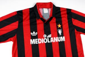 1990-91 Ac Milan Maglia Match Worn #15 Agostini XL (Top)