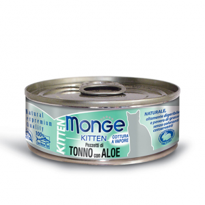 Monge Cat - Natural Superpremium - Jelly - Kitten - Tonno e Aloe - 80g x 24 lattine