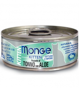 Monge Cat - Natural Superpremium - Jelly - Kitten - Tonno e Aloe - 80g x 6 lattine