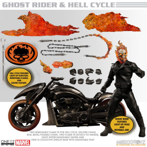 *PREORDER* Ghost Rider: GHOST RIDER & HELL CYCLE by Mezco Toys