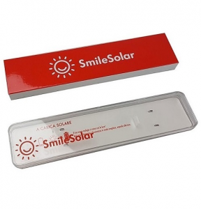 Smile Solar Arabics (Quadrante bianco, cinturino gomma cipria)