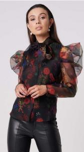 Blusa con stampa fiori Forever Unique