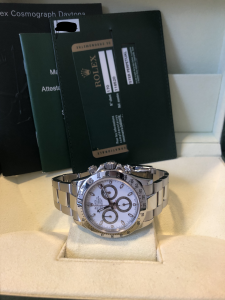 Orologio secondo polso Rolex Daytona 116520