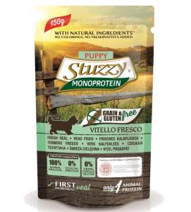 Stuzzy Dog - Monoprotein - Puppy - Vitello - 150g x 12 buste