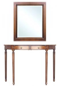 Consola con espejo combinado