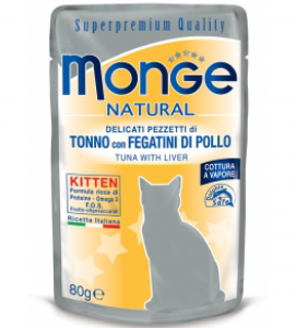 Monge Cat - Superpremium Quality - Natural - Kitten - 80g x 24 buste