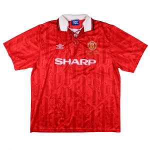 1993-94 MANCHESTER UNITED MAGLIA 'Premier League Champions' HOME XXL (TOP)