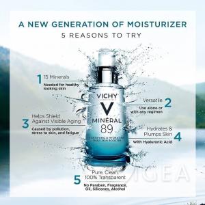 Vichy Mineral 89- booster quotidiano fortificante e rimpolpante con acido ialuronico