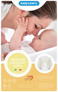 NOVITA' Riduttore Paracolpi Cilindro per Lettino in Ciniglia Sfoderabile Misura XL con Lacci (Bianco) related image