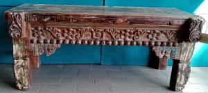 Tavolino bassa in legno di teak recuperato