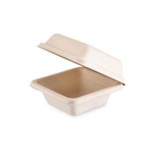 Box a conchiglia Brown quadrato piccolo - 13.5x13.5x7 cm