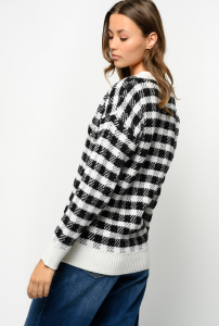 SHOPPING ON LINE PINKO PULLOVER JACQUARD CHECK CON STRASS  NEW COLLECTION WOMEN'S FALL WINTER 2020/2021