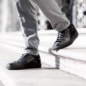 Corvari sneaker 1215 pelle nera-3