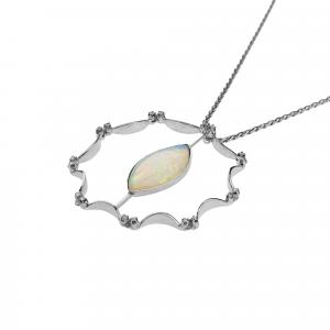Collana con Opale e Diamanti - View1