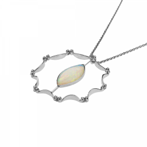 Collana con Opale e Diamanti - Sole - small