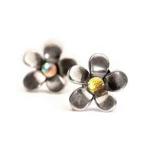 Orecchini fiori d'argento