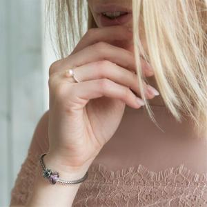 Anello Petali Di Perla Rosa  - Sole - small