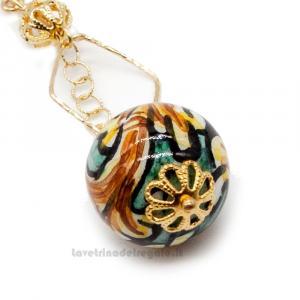 Orecchini con sfere colorate in ceramica di Caltagirone - Gioielli Siciliani